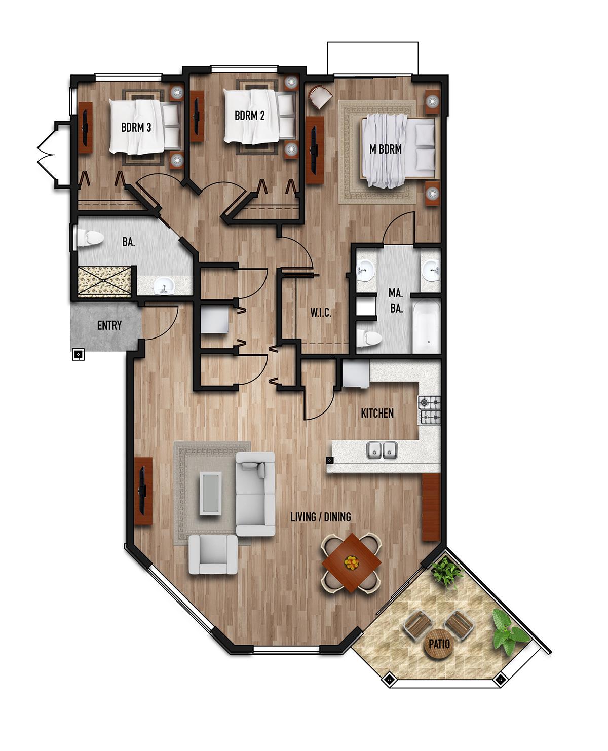 paradise ridge floor